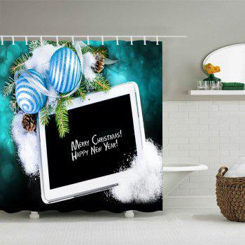 Merry Christmas Balls Print Waterproof Bathroom Shower Curtain - W71 INCH * L71 INCH W71 INCH * L71 INCH