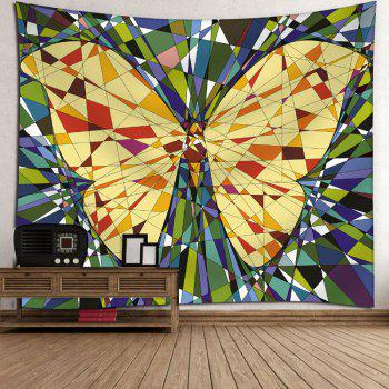 Wall Decor Butterfly Print Tapestry - YELLOW W91 INCH * L71 INCH