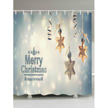 Christmas Snowflake Print Waterproof Bathroom Shower Curtain - COLORMIX W59 INCH * L71 INCH