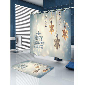 Christmas Snowflake Print Waterproof Bathroom Shower Curtain - COLORMIX COLORMIX