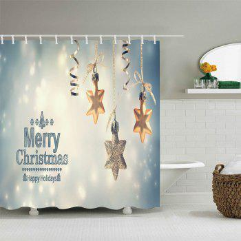 Christmas Snowflake Print Waterproof Bathroom Shower Curtain - COLORMIX W71 INCH * L79 INCH