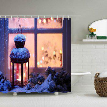 Christmas Lantern Print Waterproof Bathroom Shower Curtain - COLORMIX COLORMIX