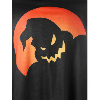 Plus Size Halloween Raglan Sleeve Top - BLACK/ORANGE 4XL