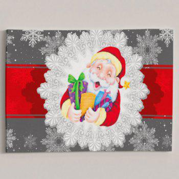 Santa Claus Prints Christmas Wall Art Canvas Painting - COLORMIX 1PC:24*39 INCH( NO FRAME )