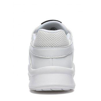 Colorblock Breathable Mesh Sneakers - WHITE 44