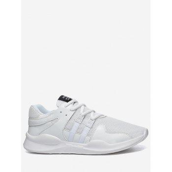 Colorblock Breathable Mesh Sneakers - WHITE 42