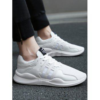 Colorblock Breathable Mesh Sneakers - WHITE WHITE