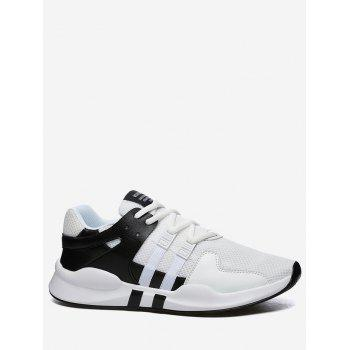 Colorblock Breathable Mesh Sneakers - BLACK WHITE 44