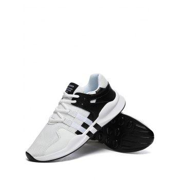 Colorblock Breathable Mesh Sneakers - BLACK WHITE 42