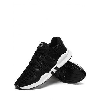 Colorblock Breathable Mesh Sneakers - BLACK 40