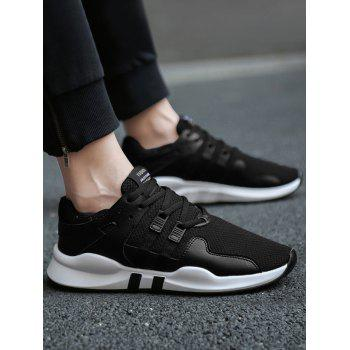 Colorblock Breathable Mesh Sneakers - BLACK 43
