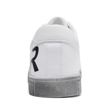Letter Print Faux Leather Sneaker - 44 44