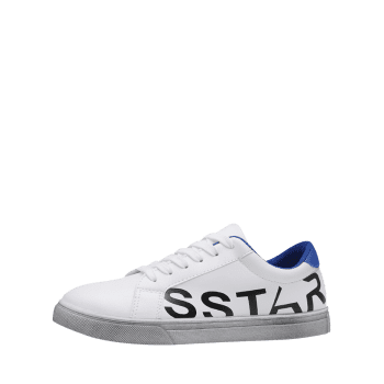Letter Print Faux Leather Sneaker - 40 40