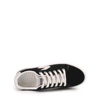 Tow-top Round Toe Faux Suede Skate Shoes - 41 41