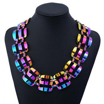 Alloy Statement Chunky Necklace - COLORMIX COLORMIX