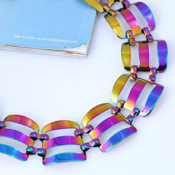 Alloy Statement Chunky Necklace - COLORMIX