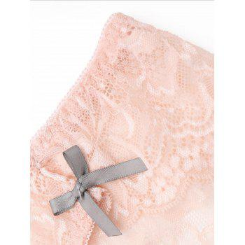 Lace Scalloped Trim Sheer Panties - ONE SIZE ONE SIZE