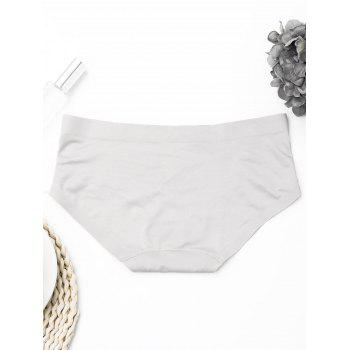 Seamless Mid Waist Panties - ONE SIZE ONE SIZE