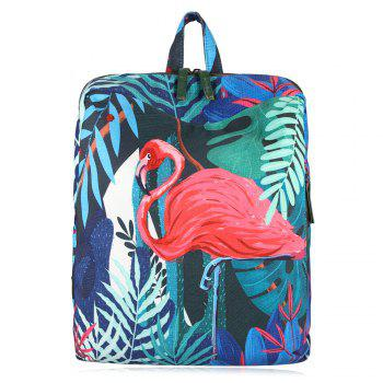 Leaves Animal Print Backpack - RED RED