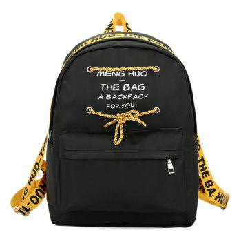 Letter Print String Backpack - YELLOW YELLOW