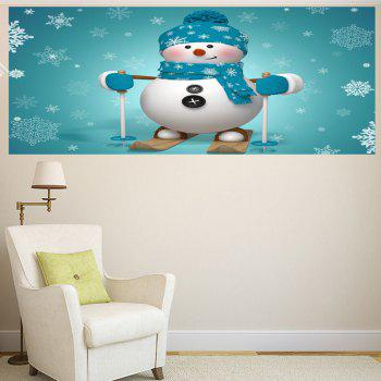 Skiing Snowman Pattern Multifunction Wall Art Sticker - 1PC:24*47 INCH( NO FRAME ) 1PC:24*47 INCH( NO FRAME )