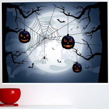 Multifunction Halloween Spider Web Pattern Wall Sticker - BLUE GRAY BLUE GRAY