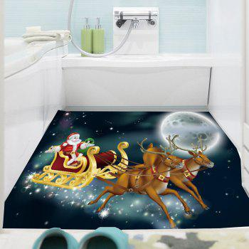 Moonlight Santa Claus Carriage Pattern Removable Wall Sticker - BLACKISH GREEN 1PC:24*47 INCH( NO FRAME )