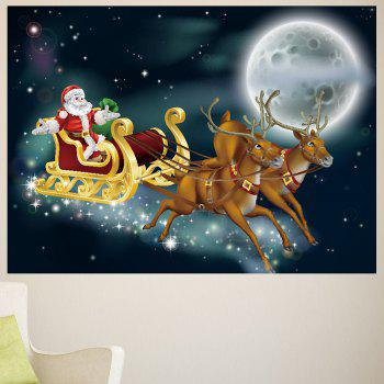 Moonlight Santa Claus Carriage Pattern Removable Wall Sticker - 1PC:39*39 INCH( NO FRAME ) 1PC:39*39 INCH( NO FRAME )