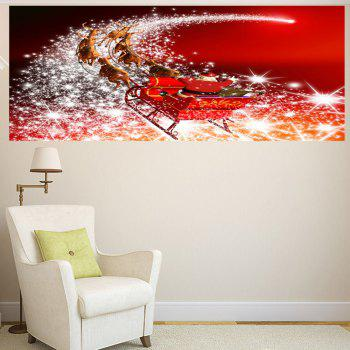 Starlight Road Santa Claus Carriage Printed Wall Art Sticker - 1PC:24*47 INCH( NO FRAME ) 1PC:24*47 INCH( NO FRAME )