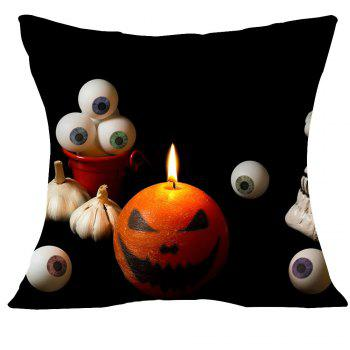 Halloween Pumpkin Eyeball Printed Square Pillow Case - W18 INCH * L18 INCH W18 INCH * L18 INCH