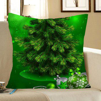 Green Christmas Tree Pattern Square Pillow Case - GREEN W18 INCH * L18 INCH