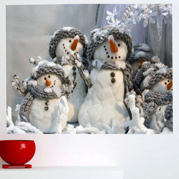 Multifunction Christmas Snowmen Patterned Removable Wall Sticker - GRAY GRAY