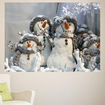 Multifunction Christmas Snowmen Patterned Removable Wall Sticker - 1PC:24*35 INCH( NO FRAME ) 1PC:24*35 INCH( NO FRAME )