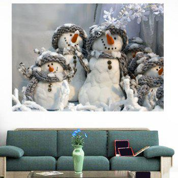 Multifunction Christmas Snowmen Patterned Removable Wall Sticker - 1PC:24*47 INCH( NO FRAME ) 1PC:24*47 INCH( NO FRAME )