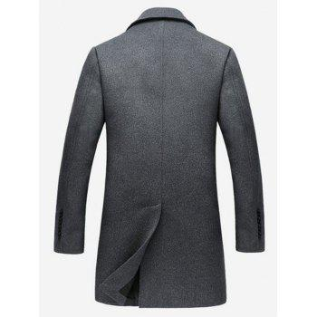 Wool Blend Single Breasted Notched Collar Coat - GRAY GRAY