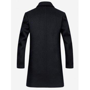 Lapel Collar Single Breasted Wool Mix Coat - M M
