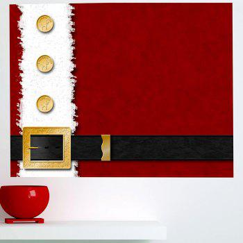 Christmas Belt Printed Removable Multifunction Wall Sticker - 1PC:39*39 INCH( NO FRAME ) 1PC:39*39 INCH( NO FRAME )