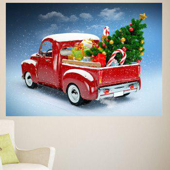 Christmas Car Pattern Removable Wall Sticker - 1PC:24*35 INCH( NO FRAME ) 1PC:24*35 INCH( NO FRAME )