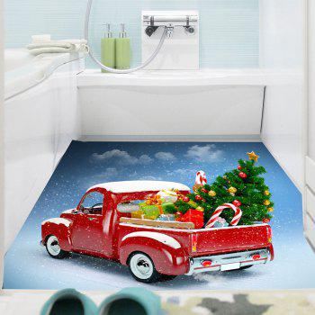 Christmas Car Pattern Removable Wall Sticker - COLORFUL 1PC:24*35 INCH( NO FRAME )