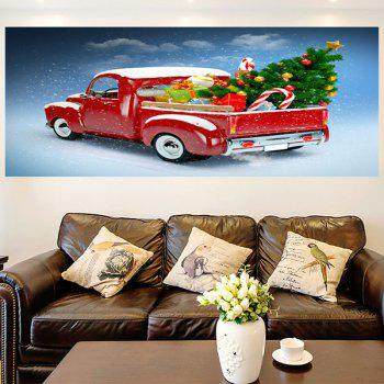 Christmas Car Pattern Removable Wall Sticker - 1PC:24*47 INCH( NO FRAME ) 1PC:24*47 INCH( NO FRAME )