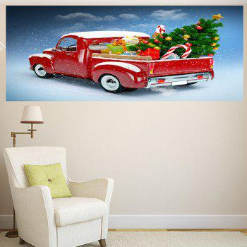 Christmas Car Pattern Removable Wall Sticker - 1PC:39*39 INCH( NO FRAME ) 1PC:39*39 INCH( NO FRAME )