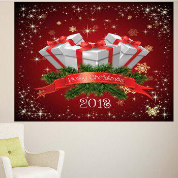 Wall Art Christmas Gifts Pattern Multifunction Removable Sticker - DEEP RED DEEP RED