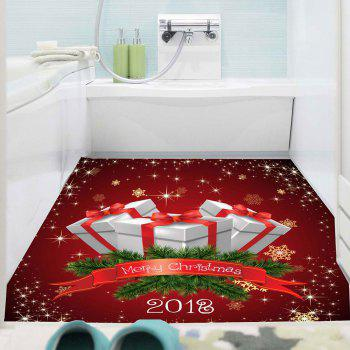 Wall Art Christmas Gifts Pattern Multifunction Removable Sticker - DEEP RED 1PC:59*39 INCH( NO FRAME )