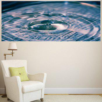 Water Drop Pattern Multifunction Removable Wall Sticker - 1PC:24*47 INCH( NO FRAME ) 1PC:24*47 INCH( NO FRAME )