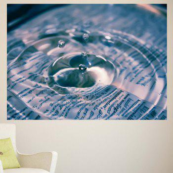Water Drop Pattern Multifunction Removable Wall Sticker - 1PC:24*71 INCH( NO FRAME ) 1PC:24*71 INCH( NO FRAME )