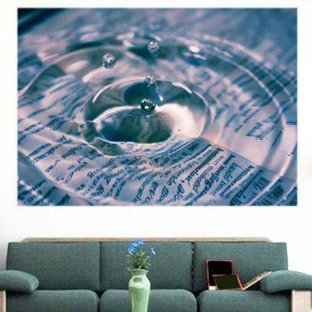 Water Drop Pattern Multifunction Removable Wall Sticker - 1PC:59*39 INCH( NO FRAME ) 1PC:59*39 INCH( NO FRAME )