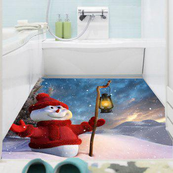 Holding Lamp Snowman Patterned Waterproof Multifunction Wall Sticker - COLORFUL 1PC:39*39 INCH( NO FRAME )