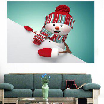 Christmas Snowman Pattern Removable Multifunction Wall Sticker - COLORFUL COLORFUL