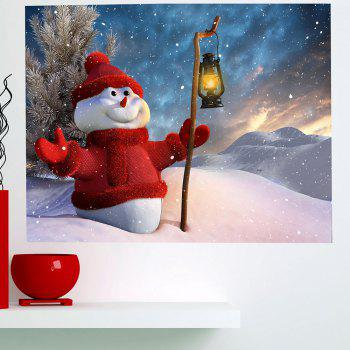 Holding Lamp Snowman Patterned Waterproof Multifunction Wall Sticker - COLORFUL 1PC:59*39 INCH( NO FRAME )