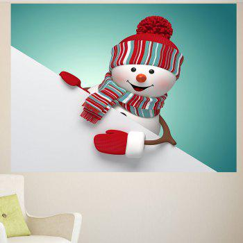 Christmas Snowman Pattern Removable Multifunction Wall Sticker - COLORFUL 1PC:24*35 INCH( NO FRAME )